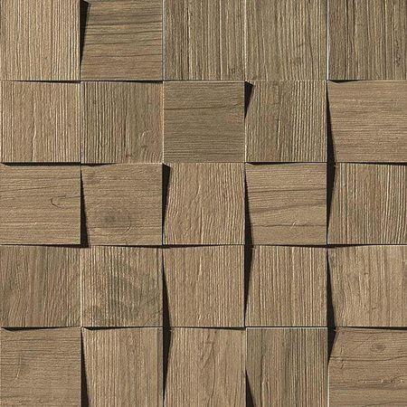 Axi Brown Chestnut Mosaico 3D 35x35