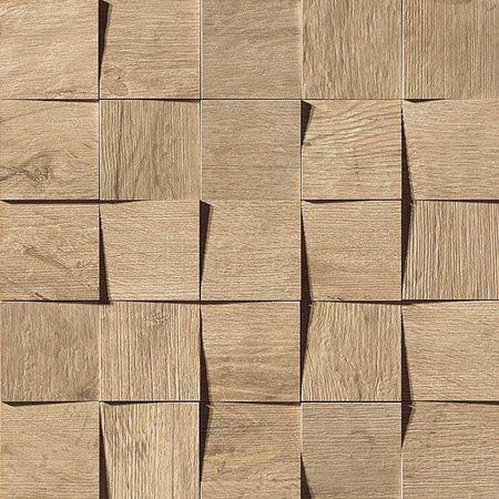 Axi Golden Oak Mosaico 3D 35x35