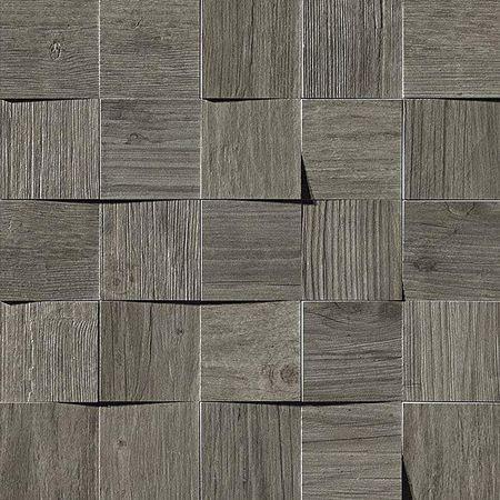 Axi Grey Timber Mosaico 3D 35x35