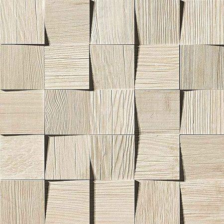 Axi White Pine Mosaico 3D 35x35