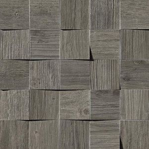 Axi Grey Timber Mosaico 3D 35x35