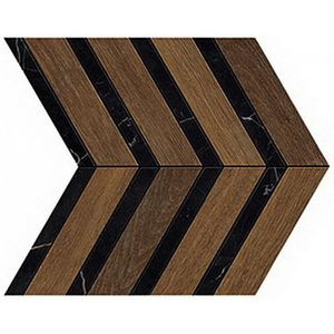Heartwood Brandy Marble Chevron 29.4x28.7