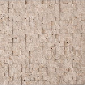 Mos.Turkish Travertine Split 1.5x1.5 30.5x30.5