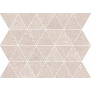 Mosaico Triangoli Sand Rectified 34x26