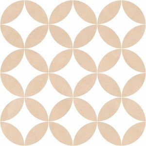 District Circles Beige 20x20